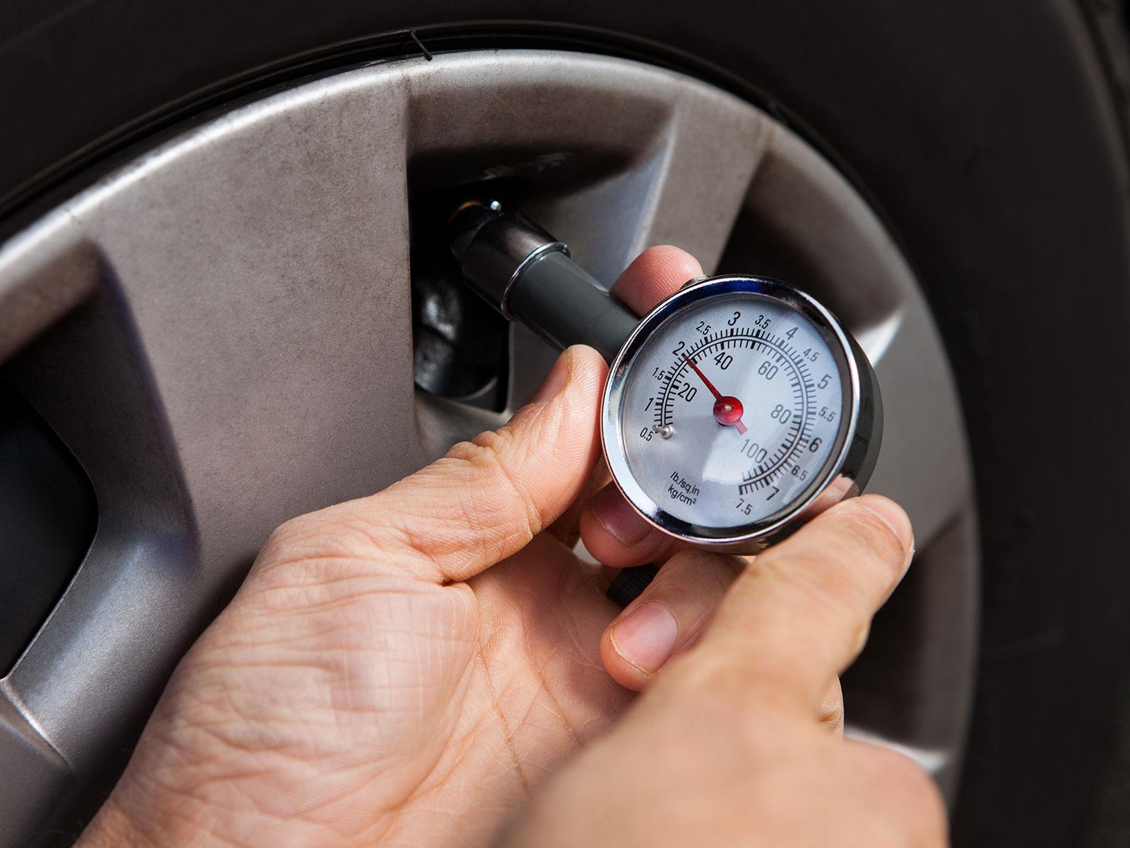 La pressione dei pneumatici